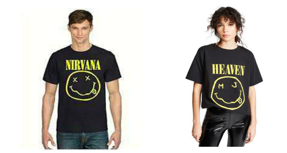 T-shirt with smiley face